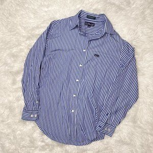 F. by Faconnable Blue Striped Button Down